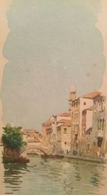 Artist unknown (signed g. Parurzi, 20th century) - pair Two watercolours