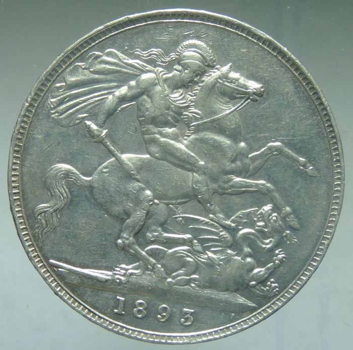 United Kingdom - Crown 1893 LVI Victoria - silver