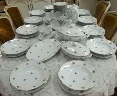 76 Piece breakfast/dinnerware with roses