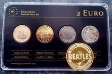 Germany - 2 Euro 2012 'Precious Metals' ennobled + medal 'Beatles'