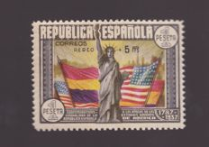 Spain 1938 – Anniversary of the U.S. Constitution - Edifil No. 765