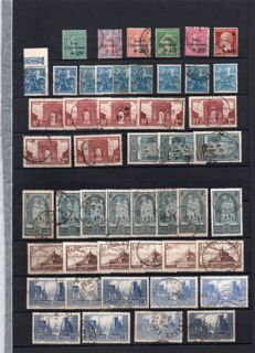 France 1927/1936 - Merchant's stock of multiple values - between Yvert no. 247/333 including no. 262/no. 321 and Caisse d'Amortissement.