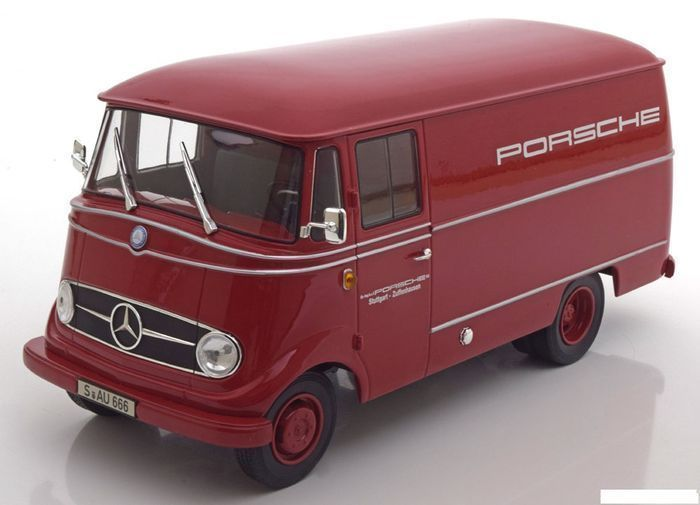 "Norev - Scale 1/18 - Mercedes-Benz L319 ""Porsche Renndienst"" 1955 - Limited 1000 Pieces - Colour: Red"