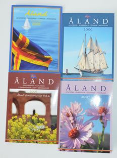 Aland - Year packs 2005,2006 and 2007 (4 pieces) incl. stamps