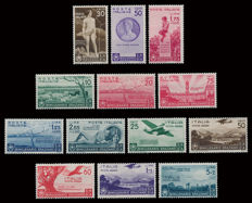Kingdom of Italy, 1936, 2000th anniversary of Horace, complete Ordinary and Airmail