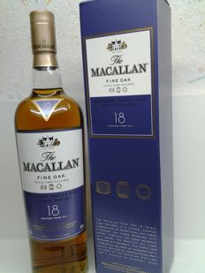 Macallan Fine Oak  18 years old.