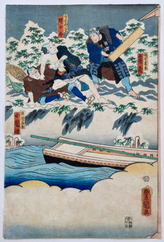 Woodcut by Utagawa Kunisada (1786-1865) – Japan – 1861.