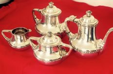Silver plated coffee and tea set, Wiskemann Style Empire, from the 30's