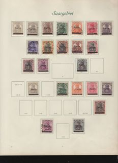 Saar region 1920/1935 – collection on album pages
