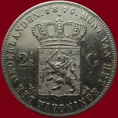 The Netherlands – 2½ guilders 1873 Willem III – silver