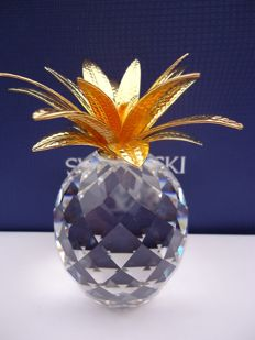 Swarovski - Pineapple large, gold.