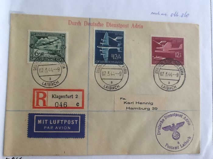 Germany letters between 1860 and 1945