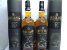 2 bottles - Knockando 18 years old 1995 & 1996.