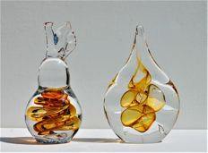 Ozzaro Glass - crystal objects Drop and Peer