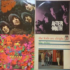 Great set of 4 unique 50 years original old mono albums, first press; The Cream, The Who, The Beatles and The Rolling Stones