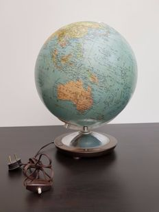 Rare glass globe with lighting