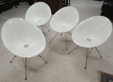 Philippe Starck for Kartell – 4 x 'EroS' design chairs