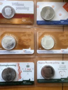 The Netherlands – 2014 through 2016 – Royal Family in Coin card (12 pieces)