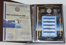 Germany - 10 Euros 2009 'Numisblatt' (5 pieces) silver incl. stamps