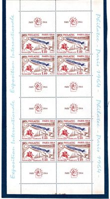 France 1964/65- Philatelic Exhibition Paris, Philatec - Yvert block no. 6 and complete years - Yvert no. 1404/1467