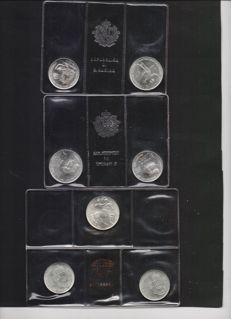San Marino – 2x diptych (1983) and a triptych (1981) in silver
