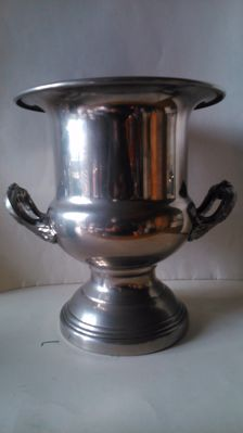 large silver bucket - (for champagne/sparkling wine) Italy - vintage from the 1960s/70s