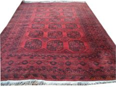 Old afghan beautiful elephant foot pattern with hand knotted woolen wool carpet 315cmx247cm.There is no minimum price!