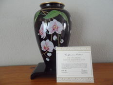 "Franklin Mint vase ""the orchid of the rising sun"" 1987"