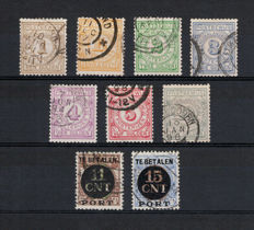 The Netherlands 1884/1924 – Postal order and postal order due stamps – NVPH PW1/PW7 + PV1/PV2