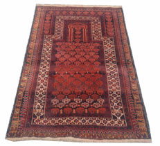 Hand Knotted Prayer Afghan Balouch Rug 138 cm x 89 cm