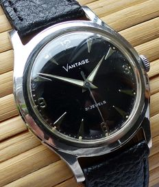VANTAGE  P73 ( Hamilton Group. ) 21 jewels -- men's wristwatch from the 1950s -- very rare collector's item
