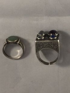 Two antique silver rings, Israel, circa 1890/1900