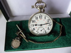 Rolex - railway swiss gents pocket watch {ref no 56}