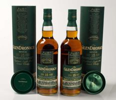 2 bottles - Glendronach Revival 15 years old