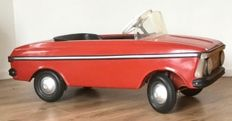 An, USSR - Length 115 cm - Pressed steel Moskvitch Cabriolet pedal car with mechanics, 70s/90s