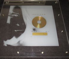 Original Rare Gold Record Award Aaliyah Transparant Plexiglass Presentation Disc France