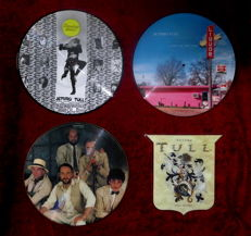 Jethro Tull; 4 rare collectors picture discs out of the eighties