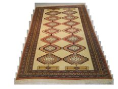 Authentic hand-knotted original Bokhara 245 x 165 cm Collector's piece, end of the 20th century