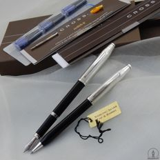 Gorgeous Cross Century 'Sterling & Black' Ballpoint / Pencil & Fountain Pen | Medium Nib | New Old Stock / Mint Condition