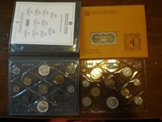 Italy - Divisional series 1983 and 1990 with silver