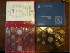 Italy - Divisional series 1980 and 1993 with silver