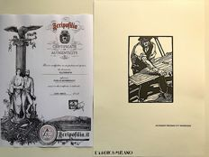 Publio Morbiducci (1889-11963) Original woodcut special edition from the collection Ettore Cozzani L'Eroica with COA