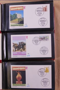 Federal Republic of Germany and Berlin 1981/1993 – collection  FDCs in 13 small albums.