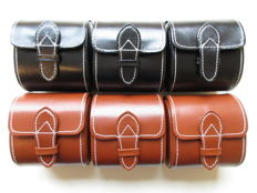 Set of 6 – Champ collection Germany design watch boxes – black and brown leather