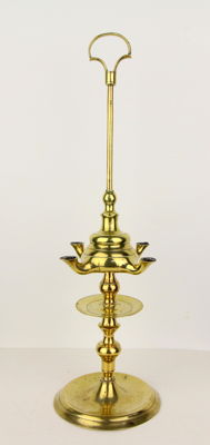 Oil lamp - with dripping wick - copper-Netherlands 18th century