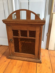 Antique wooden medicine cabinet-approx. 1900-France