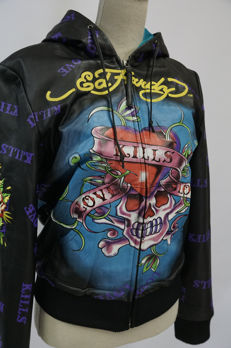 Don Ed Hardy – Leather Hoody