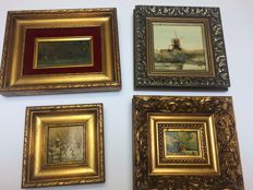 Various - series of 4 miscellaneous paintings