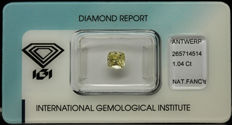 1.04 ct. Natural Fancy Light Yellow Diamond - NO RESERVE
