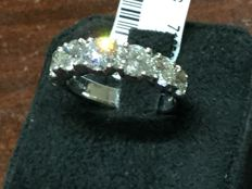 Crivelli – Wonderful ring with 2.44 ct in diamonds (F VVS1) – Size 13